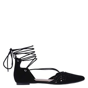 Christian Siriano Lace Up Flats